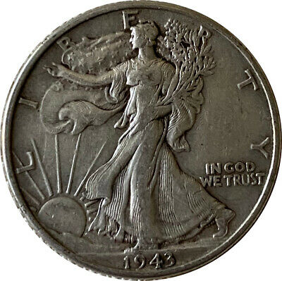 1943 Silver Walking Liberty Half Dollar Grading VF/XF 90% Silver