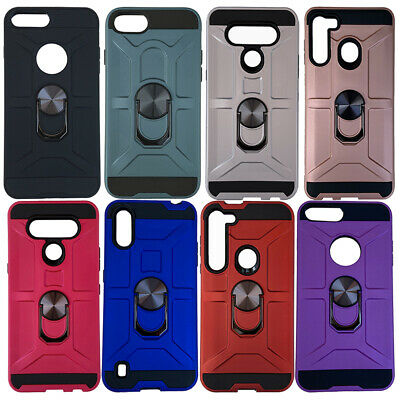 10pc Wholesale Lot of Magnetic Ring Armor Cases for iPhone Galaxy Android-