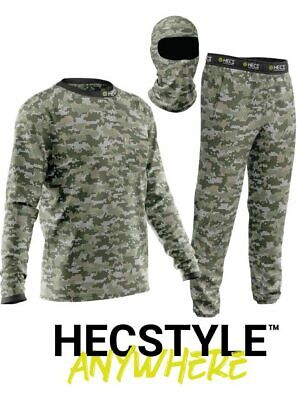 NEW2020 HECS Suit Deer Hunting Clothing-3 Piece Shirt Pants Headcover 2XS-5XL