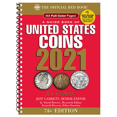 2021 RED BOOK GUIDE OF UNITED STATES COINS SPIRAL 74TH EDITION NEW FREE SHIP