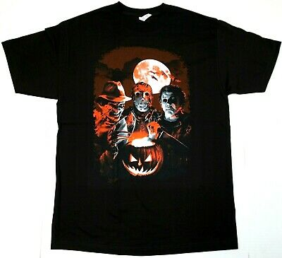 HORROR MOVIE T-shirt Scary Film Halloween Characters Mens Tee New