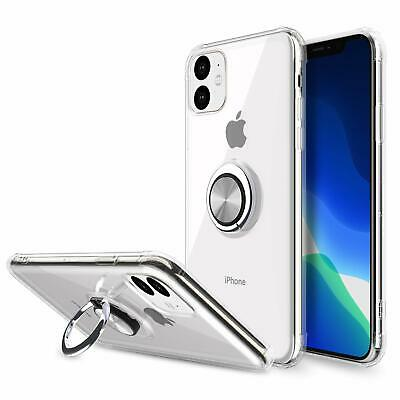 For iPhone 11 Max Pro X XR XS Case Cover Magnetic Ring Holder-Screen Protector