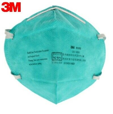 5Pack 3M 9132 N95 Healthcare Particulate Respirator Surgical Mask NIOSH Approved