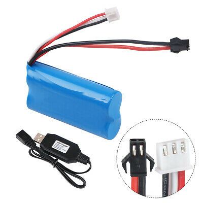 7-4V 1500mAh Li-ion Battery 15C SM Plug Rechargeable Battery with USB Charger