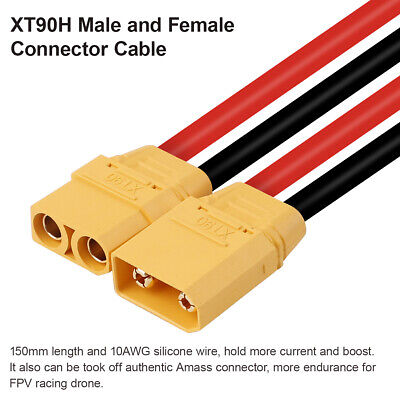 4pcs 10AWG Silicone Wire XT90 XT90H Male Female Connector Cable for Lipo Battery