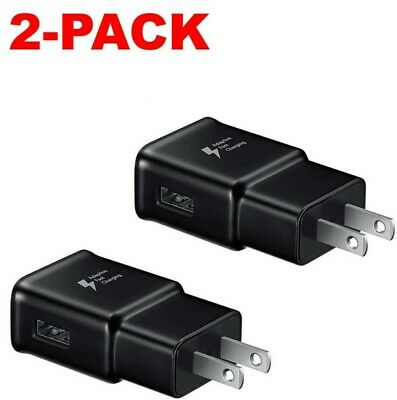 2x Adaptive Fast Charging Wall Plug Charger For Samsung iPhone Galaxy S10 Note 8