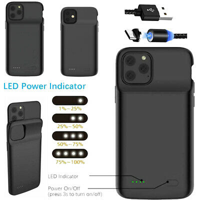 For iPhone X XR XS Max Battery Charging Case Cover Portable Power Bank