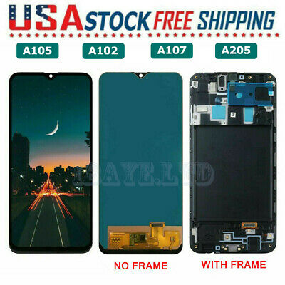 For Samsung Galaxy A20  A10E  A10  A10S LCD TOUCH SCREEN FRAME Replacement US
