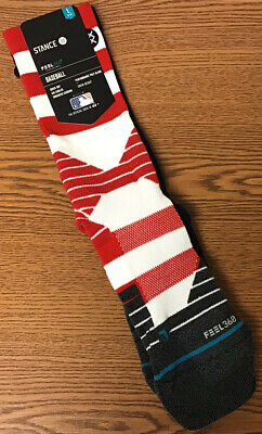 Stance MLB 2018 Diamond Pro 4th Fourth of July MLB Crew Socks Large 9-12