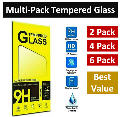 LOT for iPhone 11 Pro 8 7 6s Plus X Xs Max XR Tempered GLASS Screen Protector