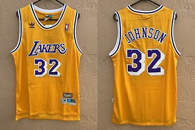 NWT LA Lakers Earvin Magic Johnson 32 NBA Swingman Throwback Jersey Man