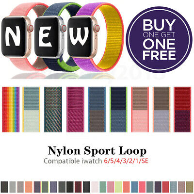 Nylon Sport Band Loop For Apple Watch iWatch Series SE654321 44424038mm