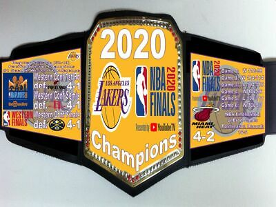 Los Angeles Lakers 2020 NBA World Champions Championship Belt