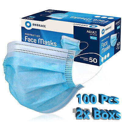 100 PCS Face Mask Mouth - Nose Protector Respirator Masks with Filter USA Seller