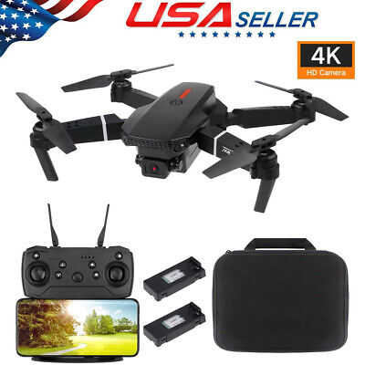 Wide Angle 4K HD Dual Camera RC Drone Foldable WiFi FPV Quadcopter Optical Flow