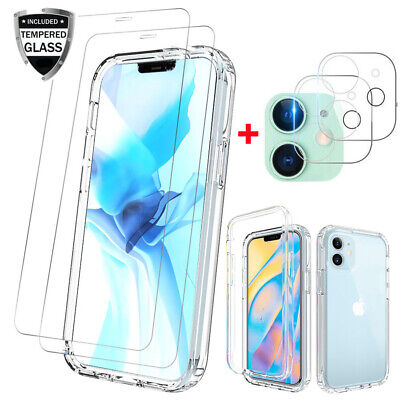 For iPhone 1212 Pro Max Clear Case Cover-Screen Protector-Camera Lens Protector