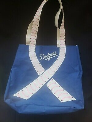 Dodgers SGA Mothers Day Tote Bag Purse Breast Cancer Awareness