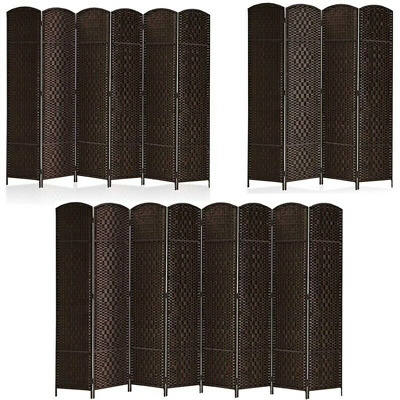 468 Panels Partition Wall Room Divider Diamond Weave Fiber Privacy Screen Gift