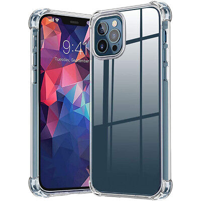 For iPhone 12ProMaxMini11XSXRX Case Crystal Clear Slim Shockproof Cover