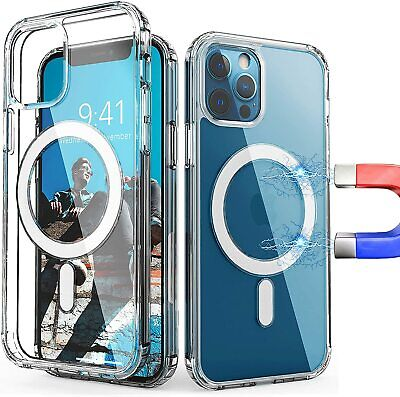 New Clear Magnetic Hard Case For Apple iPhone 12 MiniProPro Max Mag Safe Cover