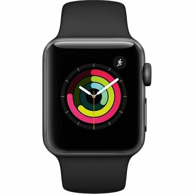 Apple Watch Series 3 GPS 38mm Space Gray with Black Sport Band ModelMTF02LLA