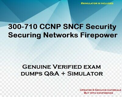 300-710 CCNP SNCF Security Securing Networks Firepower practice exam - sim