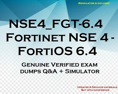 NSE4-FGT-6-4 Fortinet NSE 4 - FortiOS 6-4 practice questions answers - simulator