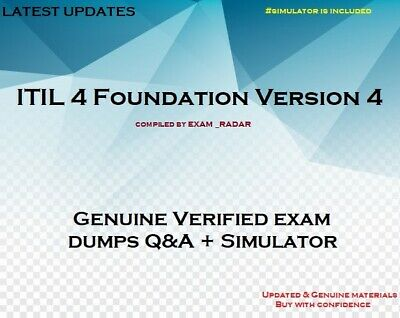 ITIL 4 Foundation Version 4 practice Exam questions - answers - simulator