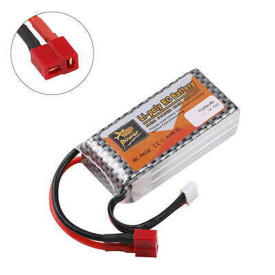 1500mAh ZOP Power 11-1V 3S LiPo Battery w T Plug for RC Car Drone Boat Airplane