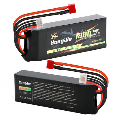3S 11-1V 1800mAh 60C Lipo Battery with T Deans Plug for RC Car Truck Boat Buggy