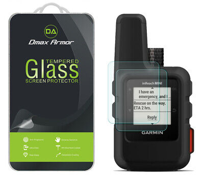2-Pack Dmax Armor Tempered Glass Screen Protector for Garmin inReach Mini