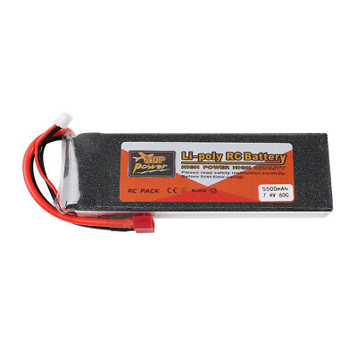 5500mAh ZOP Power 7-4V 2S LiPo Battery 60C Deans T Plug for RC Car Drone Airplan