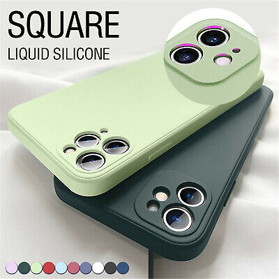 Liquid Silicone Case For iPhone 11 12 Pro Max XS XR 67 8- Camera Lens Full Cover