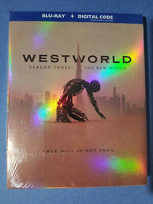 NEW - Westworld Season Three - The New World 3-Disc Blu-ray 2020