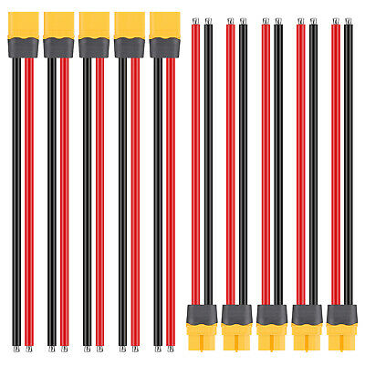10PCS 150mm 12AWG Wire XT60 Plug Male Female Connector Cable wProtection Cover