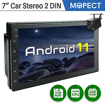7 Inch Android 10 Car Stereo GPS Radio Player Audio 2 Din WIFI USB 2-16GB Camera