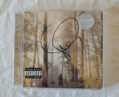 Taylor Swift Signed Deluxe Folklore CD New Autographed Sealed