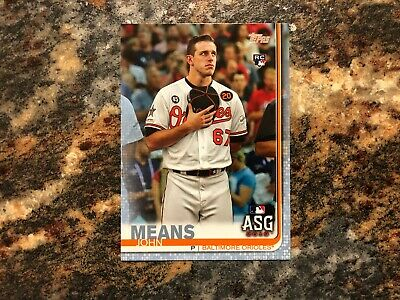 John Means 2019 Topps Update Fathers Day Blue RC 1850 Orioles