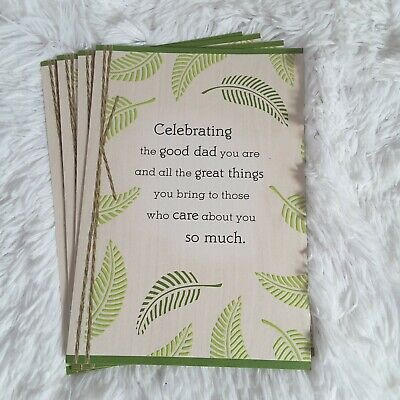 Hallmark Happy Fathers Day Dad Good Dad Greeting Cards Leaves Natural Tones