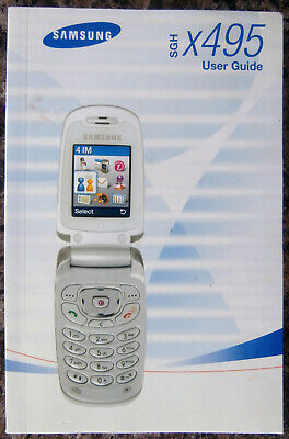 Vintage Samsung SGH-x495 Cell Phone User Guide Manual