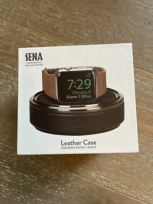 NEW SENA Leather Watch Travel Case for Apple Watch Black - SXD001ALUS