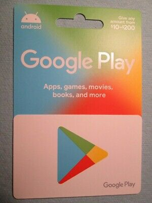 200 Google Play Gift Card - Not Scratched - Brand New Card