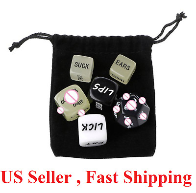 6X Adult Love Dice Sex Position Funny Game Foreplay Toy Set Lover Bachelor NEW