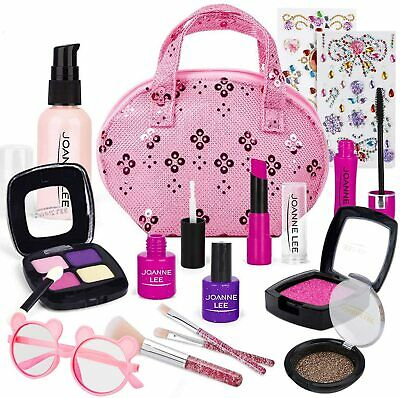 Pretend Play Makeup Kit for Girls Kids Fake Make Up Toys Set Role Play Gifts