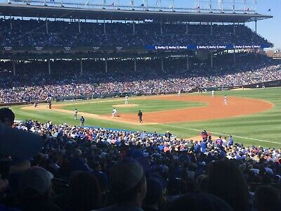 4 Tickets Chicago Cubs vs- San Diego Padres 53121 Wrigley Field Section 229
