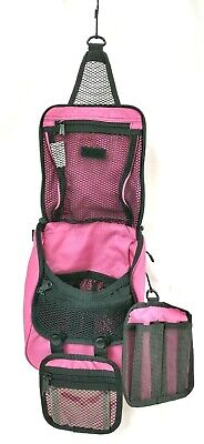 LL Bean Hanging Toiletry Travel Bag Shower Caddy Cosmetic Bag Pink
