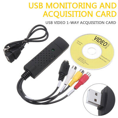 USB 2-0 Audio Video VHS VCR to DVD Converter Capture Card Adapter Cable US