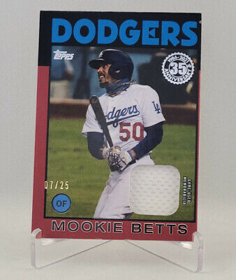 2021 topps series 1 Mookie Betts 725 Red Jersey Relic