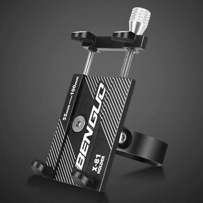 Bike Phone Mount with Anti-Shake Stainless Steel Clamp Arms Aluminum Alloy