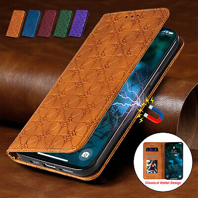 For iPhone 13 12 11 Pro Max XS XR 8 7 6S Magnetic Leather Wallet Case Flip Cover